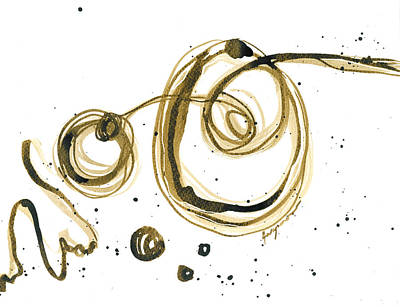 Painting - Gathering Strength - Revolving Life Collection - Modern Abstract Ink Artwork by Patricia Awapara