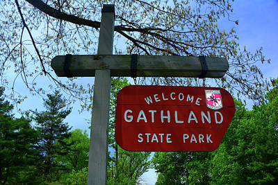Photograph - Gathland State Park Sign In The Spring by Raymond Salani III