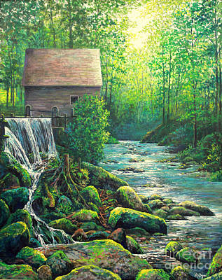 Painting - Gatlinburg  Tenessee Mill by Lou Ann Bagnall