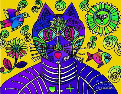 Drawing - Gato Amarillo by Lydia L Kramer
