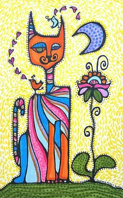 Corazones Painting - Gato Flaco I by Sandra Perez-Ramos