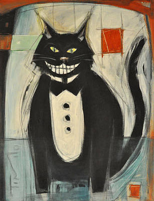 Painting - Gato Negro En Tux by Tim Nyberg