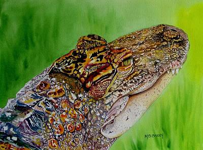 Gator Ali Art Print by Maria Barry