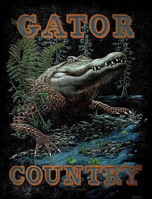 Swamp Painting - Gator Country by JQ Licensing