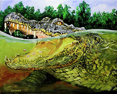 Painting - Gator Greeting by Karl Wagner