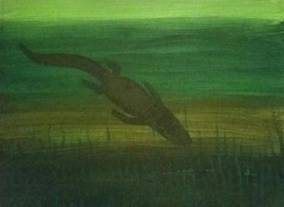 Florida Gators Painting - Gator Shadow  by Vale Anoa'i