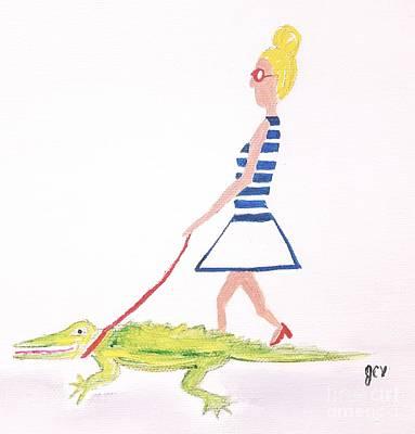 Gator Walk Art Print by J Cv