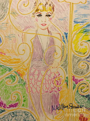Daisy Drawing - Gatsby Style by N Willson-Strader