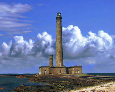 Photograph - Gatteville Lighthouse by Anthony Dezenzio
