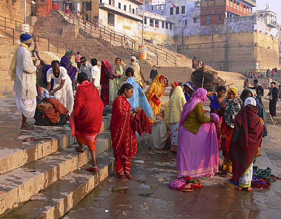 Photograph - Gatts At Varanasi by Joel Gilgoff