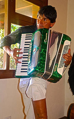 Fragua Photograph - Gaucho Playing The Accordion At La Fragua Ranch In Patagonia Near Bariloche-argentina   by Ruth Hager