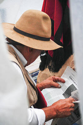 Photograph - Gaucho Reading by Silvia Bruno