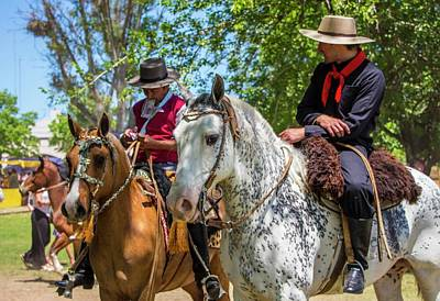 Photograph - Gauchos Taking A Break, Argentina by Venetia Featherstone-Witty