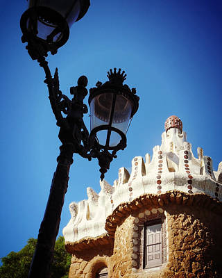 Photograph - Gaudi And Lamp Post by Valerie Reeves