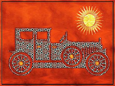 Photograph - Gaudi Antique Car  by Carlos Diaz