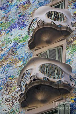 Barcelona Mixed Media - Gaudi Balcony by Svetlana Sewell