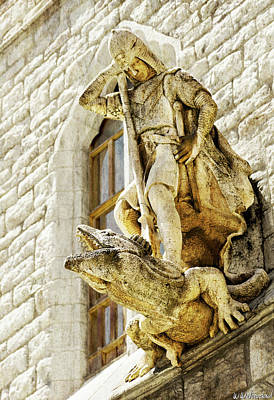 Photograph - Gaudi Casa Botines - Saint George And The Dragon by Weston Westmoreland