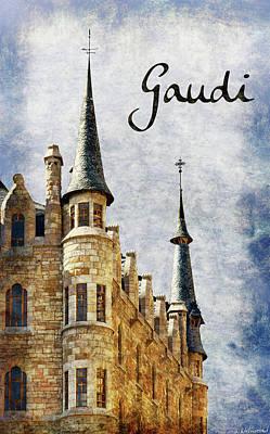 Photograph - Gaudi Casa Botines - Vintage by Weston Westmoreland