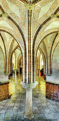 Photograph - Gaudi - Episcopal Palace Colonnade - Vintage by Weston Westmoreland
