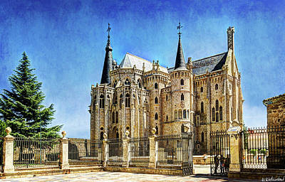 Photograph - Gaudi - Episcopal Palace Of Astorga - Back -vintage by Weston Westmoreland