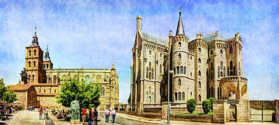 Photograph - Gaudi - Episcopal Palace Of Astorga - Front-vintage by Weston Westmoreland