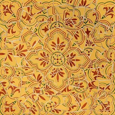Photograph - Gaudi Mosaic by Corinne Rhode