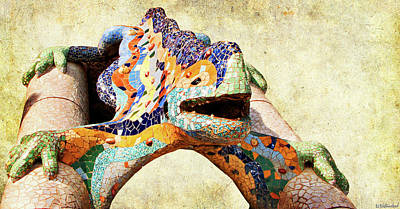 Photograph - Gaudi Salamander by Weston Westmoreland