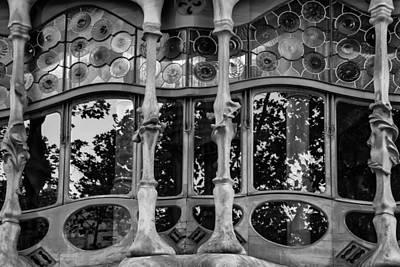 Photograph - Gaudi Window In Barcelona by Georgia Fowler