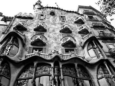 Photograph - Gaudi's Casa Batllo by John Rizzuto