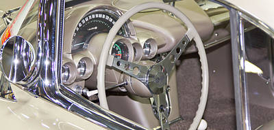 Barrett Jackson Wall Art - Photograph - Gauges by Wayne Vedvig