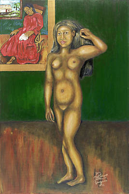 Gauguin Backgrounded Art Print by Neil Trapp