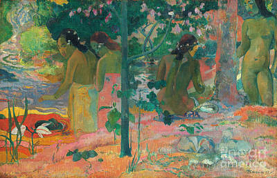 Painting - Gauguin,  Bathers, 1898 by Granger
