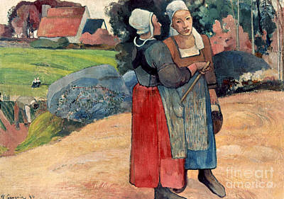 Gauguin: Breton Women, 1894 Art Print by Granger
