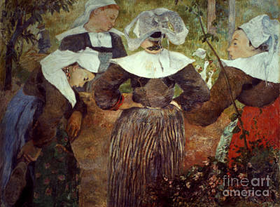 Photograph - Gauguin: Breton Women by Granger