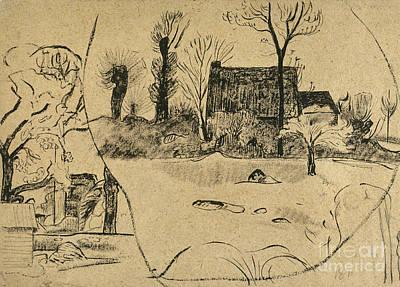 Photograph - Gauguin: Pont-aven, C1888 by Granger