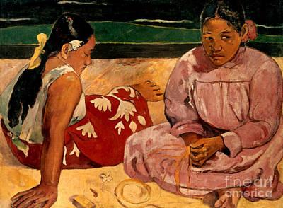 Photograph - Gauguin: Tahiti Women, 1891 by Granger