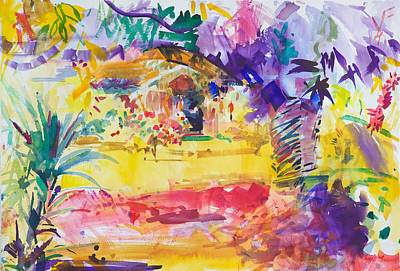 Loose Painting - Gauguin's Garden by Peter Graham
