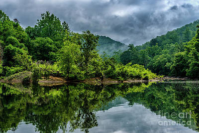 Rainy Day Photograph - Gauley River Island by Thomas R Fletcher