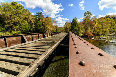 Gauley River Railroad Trestle Art Print