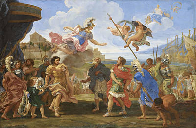 Gaulli Giovanni Battista Painting - The Duel Of Achilles And Agamemnon by Giovanni Battista Gaulli