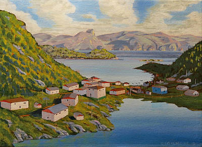 Painting - Gaultois Village Newfoundland by David Gilmore