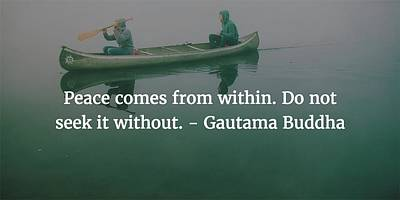 Photograph - Gautama Buddha Quote by Matt Create