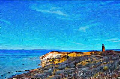Photograph - Gay Head Lighthouse  1 - Aquinnah by Jeffrey Canha