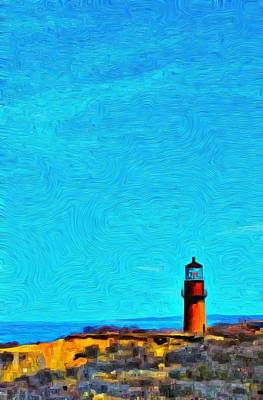 Photograph - Gay Head Lighthouse 2 - Aquinnah by Jeffrey Canha