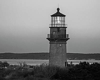 Photograph - Gay Head Lighthouse Aquinnah, Massachusetts Cape Cod Black And White by Toby McGuire