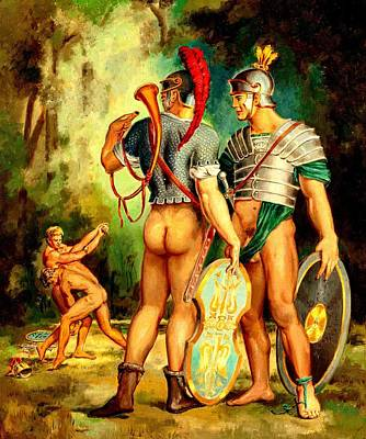 Painting - Gay Knights In Shining Armor Circa 1960 by Peter Gumaer Ogden Collection