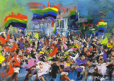 Wall Art - Painting - Pride And Diversity Parade by Neil McBride