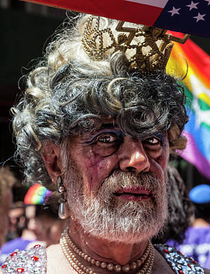 Photograph - Gay Pride 2017 Nyc Grey Hair by Robert Ullmann