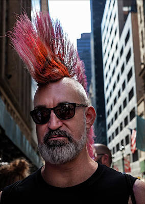 Photograph - Gay Pride 2017 Nyc Marcher With Mohawk by Robert Ullmann