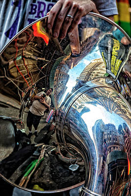 Photograph - Gay Pride 2017 Nyc Reflections In A Tuba by Robert Ullmann